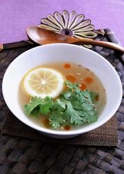 ★アレンジレシピ★パクチーレモンスープ