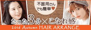 2016 Autumn HAIR ARRANGE