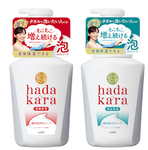 【500名様へプレゼント!】新発売「hadakara 増える泡ボディソープ」のクチコミをご紹介