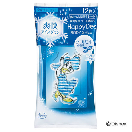 Happy Deo Body Wipe Refreshing Ice Down Cool Mint Scent / Mandom