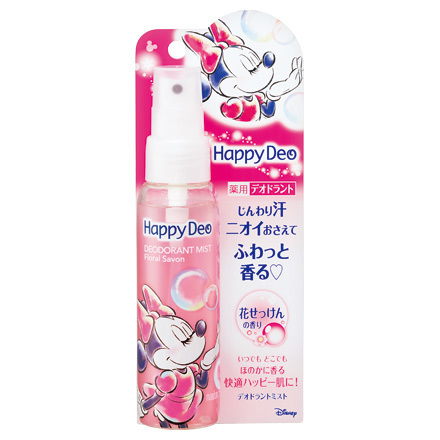 Happy Deo Deodorant Mist Flower Soap / Mandom
