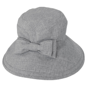 100% Sun Protection Ribbon Hat (Breathable) / Rose Blanc