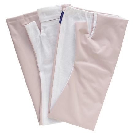 100% Sun Protection Arm Cover (Fraise) Cooling Type Water Resistant Fabric with Slip Resistant / Rose Blanc