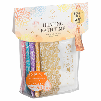 Bath Additives with Gold Leaf Particles 5 Types Set / KINKA