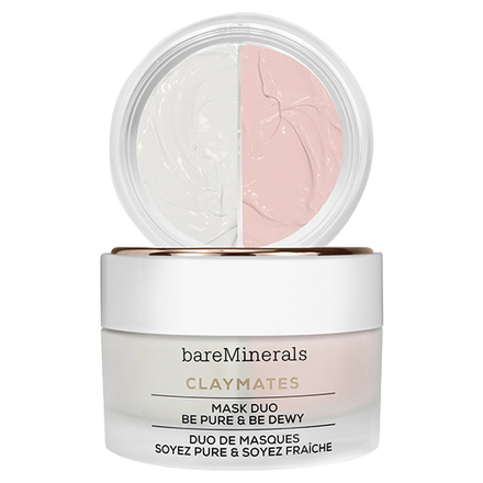 CLAYMATES BE PURE & BE DEWY MASK DUO / bareMinerals