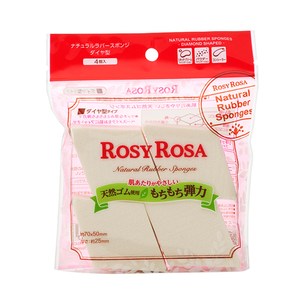 Natural Rubber Sponges Diamond Shaped 4P / ROSY ROSA