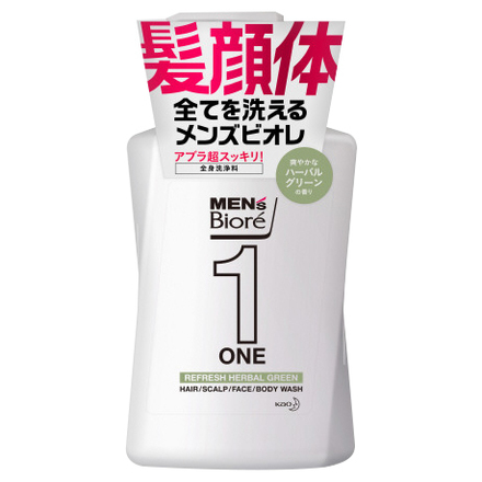 ONE All in One Body Wash (Herbal Green Fragrance) / Men's Biore