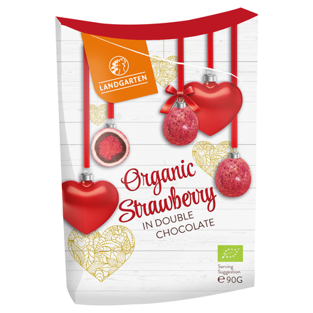Organic Strawberry in Double Chocolate / LANDGARTEN