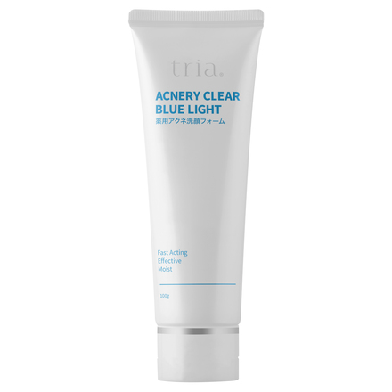 Acnery Clear Blue Light Medicated Acne Face Wash Foam / tria