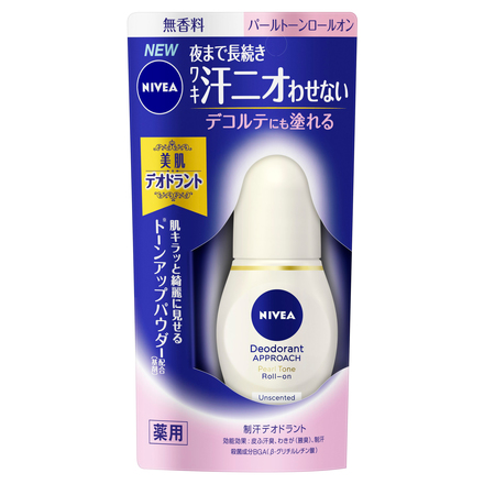 Deodorant Approach Pearl Tone Roll-on Unscented / NIVEA