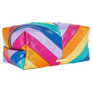 Rainbow Chevron Makeup Bag