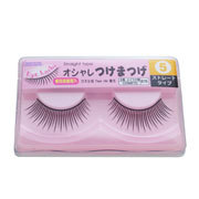 Short Straight False Eyelashes / DAISO